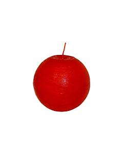 Свеча Патина шар красная  / 12cm