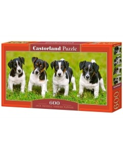 Puzzle Castorland Jack Russell Terrier puppies 68x30cm / 600tk / LM