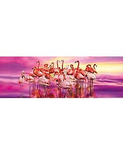 Puzzle Clementoni 98x33cm / 1000tk / Flamingod / LM