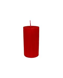 Свеча Патина цилиндр красная  / 13,5cm
