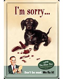 Postkaart metallist 10x14,5cm / I´m Sorry...