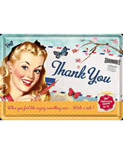 Металлическая открытка / 10х14,5 см / Happy Birthday!