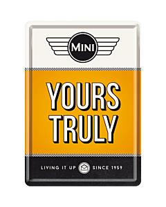 Postkaart metallist 10x14,5cm / Mini Yours Truly