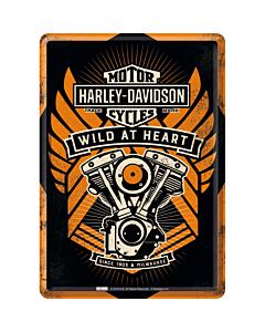 Металлическая открытка / 10х14,5 см / Harley-Davidson Wild at Heart
