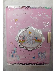 Märkmik lukuga / roosa / Unicorn