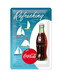 Metallplaat 20x30cm / Coca-Cola Refreshing Purjekas