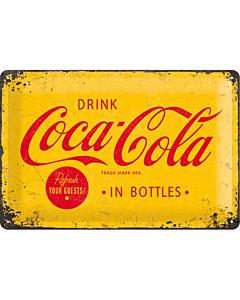 Metallplaat 20x30cm / Coca-Cola In Bottles