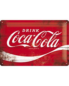 Metallplaat 20x30cm / Coca-Cola Logo