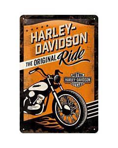 Metallplaat 20x30cm / Harley-Davidson The Original Ride
