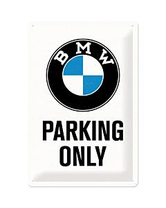 Metallplaat 20x30cm / BMW Parking Only