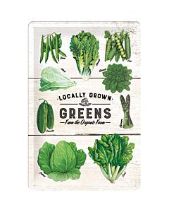 Металлический декоративный постер / Locally Grown Greens / 20x30 см