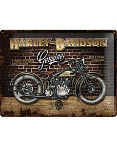 Металлический декоративный постер / Biker Parking Only / 30x40см