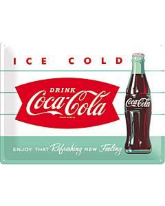 Metallplaat 30x40cm / Coca-Cola Ice cold