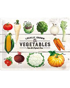 Metallplaat 30x40cm / Locally Grown Vegetables