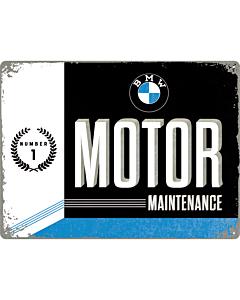 Metallplaat 30x40cm / BMW Motor Maintenance