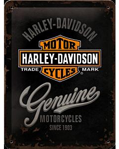 Metallplaat 15x20cm / Harley-Davidson Motorcycles
