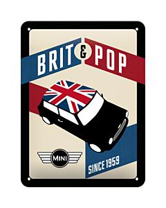 Metallplaat 15x20cm/ Mini Brit & Pop