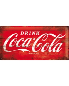 Metallplaat 25x50cm / Coca-Cola Logo