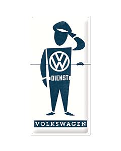 Metallplaat 25x50cm / VW Dienst