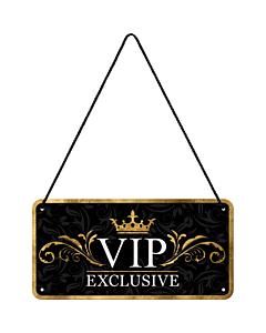 Metallplaat 10x20 cm / VIP Exclusive