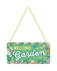 Металлический декоративный постер / Welcome to my garden / 10x20см