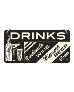 Металлический декоративный постер / Drinks / 10x20 см