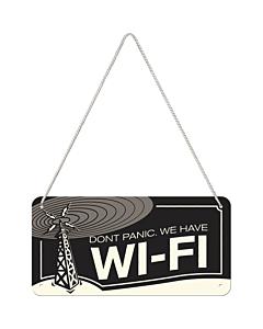 Металлический декоративный постер / Wi-Fi / 10x20 см