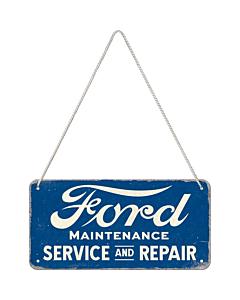 Metallplaat 10x20 / Ford - Service & Repair