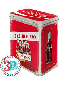 Metallpurk L / 3D Coca-Cola Coke belongs