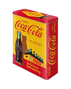 Metallpurk / XL / 3D Coca-Cola in bottles / LM