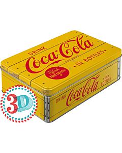 Metallkarp / flat 3D Coca-Cola in bottles