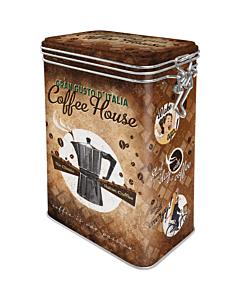 Жестяная коробка с зажимом / M / Coffee House