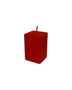 Свеча Патина многогранная красная  / 10cm
