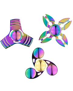 Спиннер для рук, Fidget Spinner, металлический, радуги цвета
