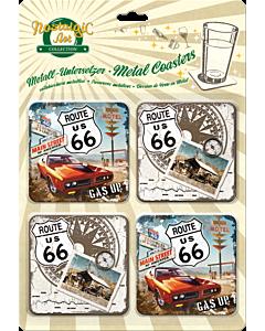 Подставки под бокалы / 4 шт / Route US 66