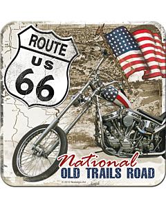 Retro klaasialus / 1tk / Route 66 Old Trails Road