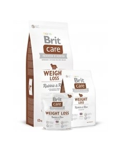 Brit Care Weight Loss with Rabbit & Rice koeratoit / 3kg