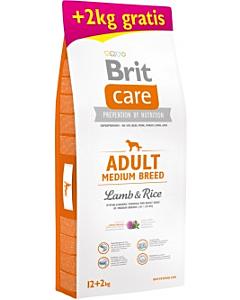Brit Care koeratoit keskmist kasvu koertele lambalihaga / 12+2kg