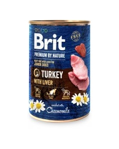 Brit Premium by Nature konserv Kalkuni ja maksaga / 800g