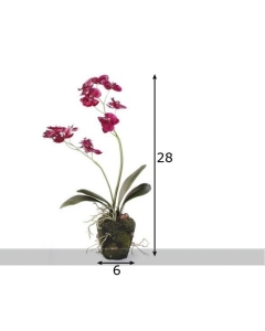 Kunstlill Orhidee potis / K28cm / lilla