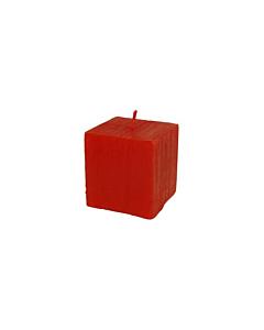 Свеча Патина многогранник красная / 6,5cm