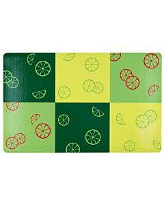 Alusmatt lemmikloomale Fresh Fruits, roheline / 44x28cm