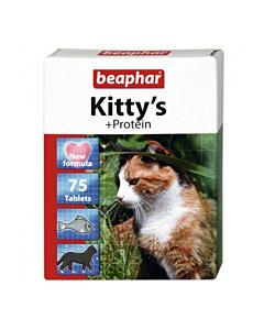Beaphar Kitty's + Protein / kalamaitseline proteiinimaius kassidele / 75tbl