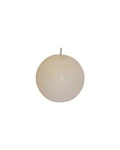 Свеча Патина шар белая / 8 cm