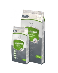 Eminent Lamb & Rice 26/14, linnuliha- ja nisugluteenivaba koeratoit / 15kg