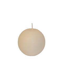 Свеча Патина шар белая / 10cm