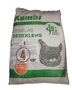 Täissööt munakanadele nisuklii ja odraga, ilma sojata(GMO) / 20kg / graanul