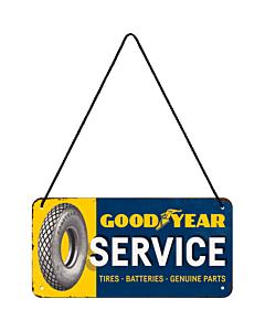Metallplaat 10x20 cm / Goodyear Service