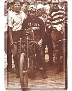 Postkaart metallist 10x14,5cm / Harley-Davidson