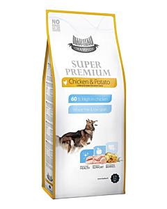 Hau-Hau Champion Super Premium täissööt täiskasvanud koertele kana ja kartuliga / 12kg